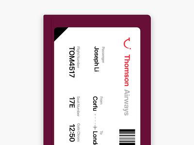 Boarding Pass Concept aviation travel passport airplane boarding pass