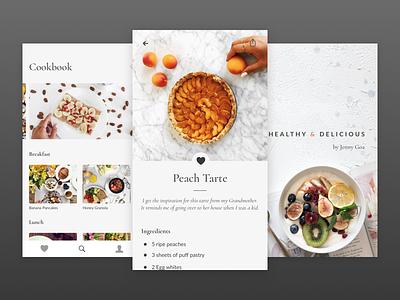 Cookbook clean ios apple ios11 food nutrition recipes cookbook cooking