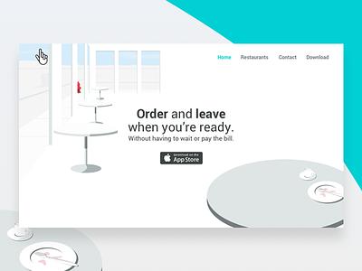 Buddy Landing Page website web ui restaurant ordering landing illustration design buddy
