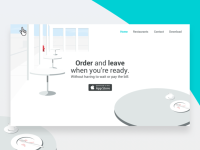 Buddy Landing Page website web ui restaurant ordering landing illustration design buddy