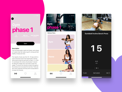 Fit with Stef workout gym training fitness app fitness ios clean ui
