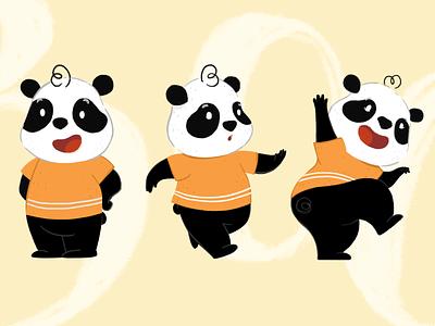 Character design - panda bears character design panda bear playful children childrens book illustration panda
