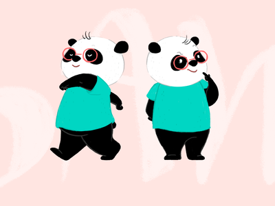 Character design - panda bears character design playful illustration childrens book panda bears panda