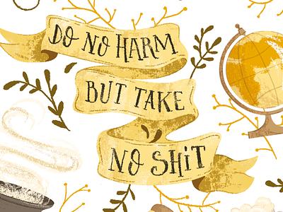 Hufflepuff poster (2) harry potter lettering illustration hufflepuff hogwarts