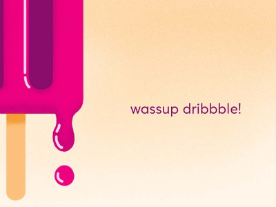 dribblin' drip popsicle illustration