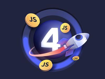 Javascript Update loading speed space vector design photoshop illustrator illustration launch rocket algolia update javascript