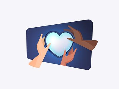 Social Impact ethnicity vector design illustrator illustration algolia heart inclusion care charity impact social diversity