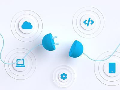 Sales Plays industry startup tech art sales minimalist branding design media illustration c4d 3d algolia