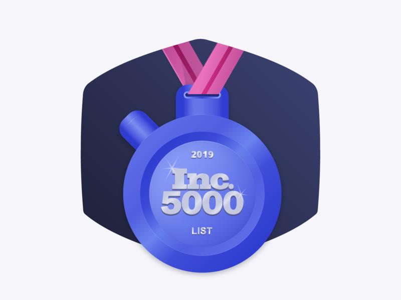 2019 Inc 5000 List vector design illustrator award medal reward algolia illustration
