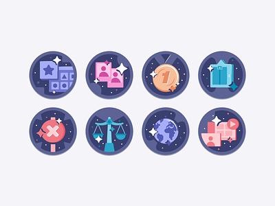 Sales Enablement Certification Badges sales enablement reward certification after effects illustrator illustration animation badge algolia