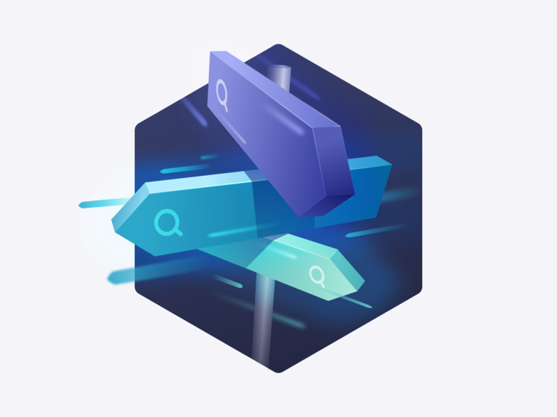 Search-Based Applications light tech way direction search roadsign illustration algolia