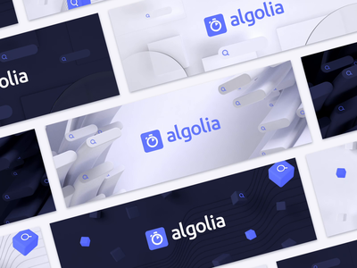 Algolia Social Media Covers loop motion animation illustration branding goodies c4d 3d design social media cover
