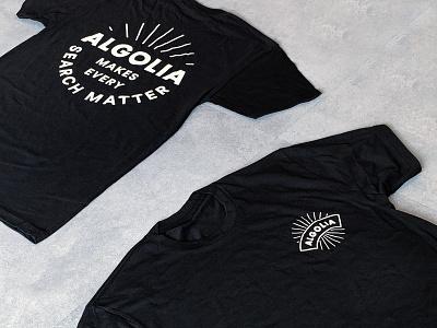 Algolia T-Shirt illustrator illustration vector design minimalist marketing goodies print logo algolia gift merchandising swag t-shirt tshirt branding