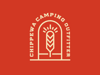Chippewa Camping Outfitter logo concept