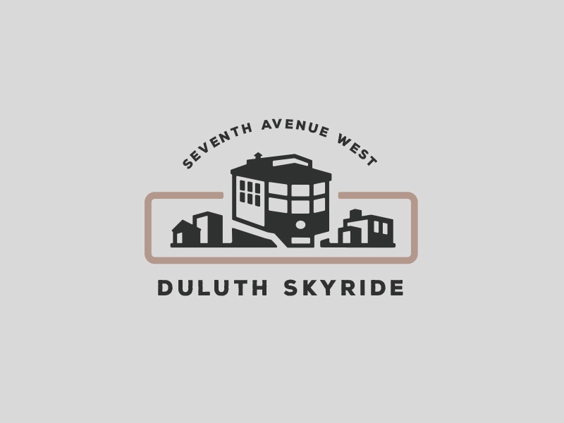 Duluth Skyride logo design vector graphic illustration duluth design retro vintage branding graphic design minnesota badge logo
