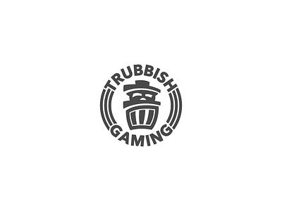 Trubbish Gaming minimal trashcan panda gaming trubbish branding design logo