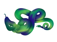 Clever snake illustration