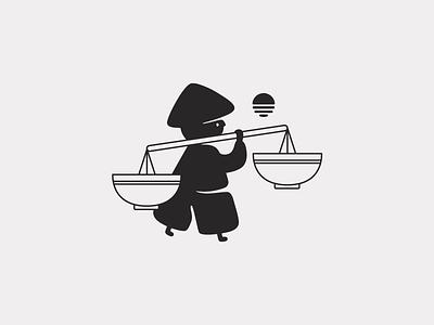 Sukirytus | Vietnamese cuisine brand mark brandmark mark sunrise asia noodles food vietnamese vector logo design digital