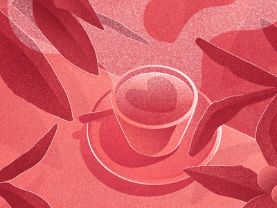 There is always time for coffee love coffee heart pink red photoshop gradient illustration digital