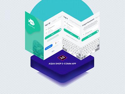 Motso Shopi E-comm APP UI Adobe XD xd ecommerce xd ecommerce ui kit ecommerce aquariam app ui aqua shop app