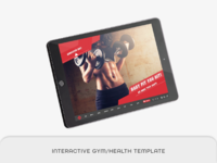 interactive gym/health template