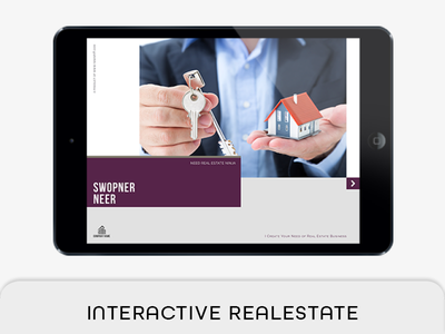 Interactive Real Estate Template tablet magazine real estate marketing real estate brochure real estate agent real estate agency real estate property professional