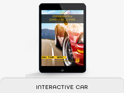 Interactive Car Template video interactive tablet car magazine switch section marker product portrait musical music interactive pdf motor sports live navigation live button liquid layout