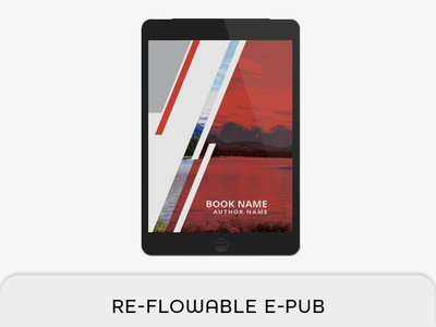 Reflowable Epub & Book Template reflowable epub print book master page indesign template indesign book ibook epub ebook e-pub mobi bookmark book layout