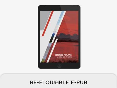 Reflowable Epub & Book Template reflowable epub print book master page indesign template indesign book ibook epub ebook e-pub mobi bookmark book layout