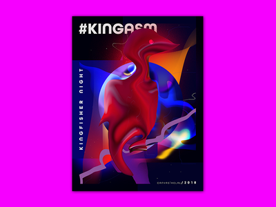 Baugasm Kingfisher illustration splash screen event poster abstract poster baugasm