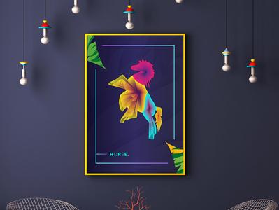 Animals Colorful Line Wall Art living room wall decor wall art lineart