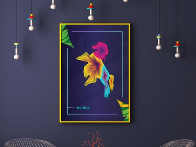 Animals Colorful Line Wall Art living room wall decor wall art lineart