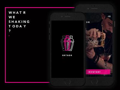 Bartender App - concept ui