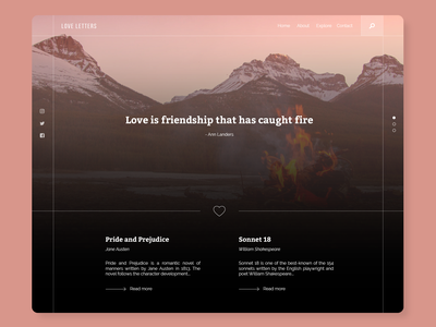 Love Letters valentines day love website web design web ux user interface user experience uiux ui simple product minimal interface landing design concept clean app