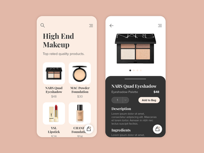 Makeup store mobile app app clean concept design interface minimal product simple ui uiux ux user experience user interface web website makeup store shop web design mobile