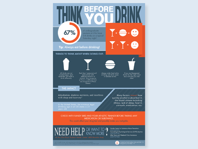 Think Before You Drink graphic design health vector typography print poster infographic illustration flyer design