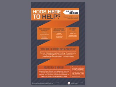 Hoos Here to Help? vector typography print poster infographic illustration health graphic design flyer design