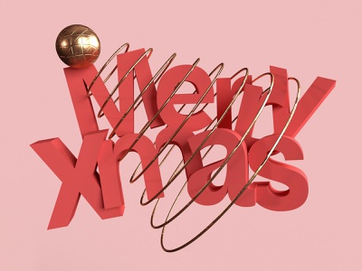Merry Christmas 🎄😊 christmas adobedimension 3d art 3d identity merrychristmas merry xmas graphicdesign typography illustration