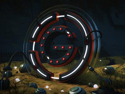 Griffin Stoller g logo cover art album art cinema 4d edm music 3d