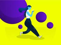 User interaction illustration concept