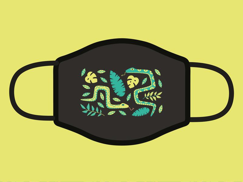 Mask Design for Awesome Merch design leaves illustration