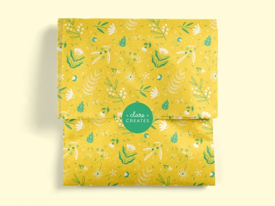 Spring Pattern for NoIssue's April Challenge foliage print paper leaves colourful print design illustration