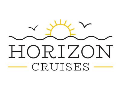 Horizon Cruises Logo Concept yellow vector design cruises horizon sun illustrator cruise logo
