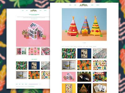 Clare Lewis Illustration's New Website freelancer freelance illustrator website design websites website illustration