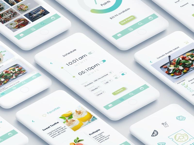 Organica Food Delivery App color minimal mobile layout ux ui design app