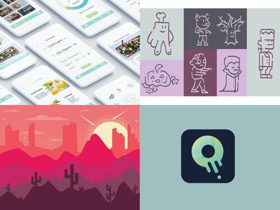 Top 4 Shots logo flat vector color illustration icon ux ui app illustrations design