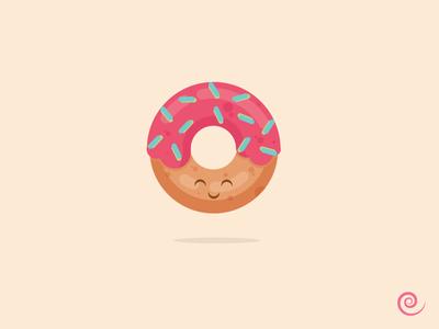 Kawaii Donut kawaii donut color design vector illustration