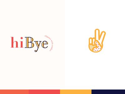 hi Bye clean design simple logo fashion illustration design color branding logo