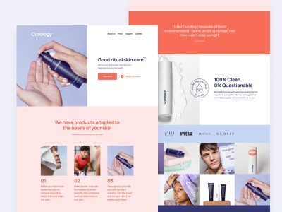 Curology. personal care shopping beauty cosmetic cosmetics curology skin care skin health website product skincare homepage ui design