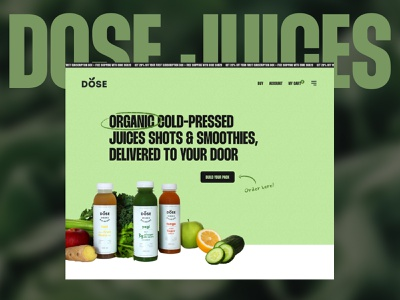 Dose Juices ecommerce dose website juices interface homepage design redesign ui